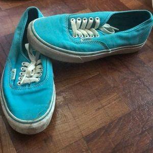 Blue Vans shoes